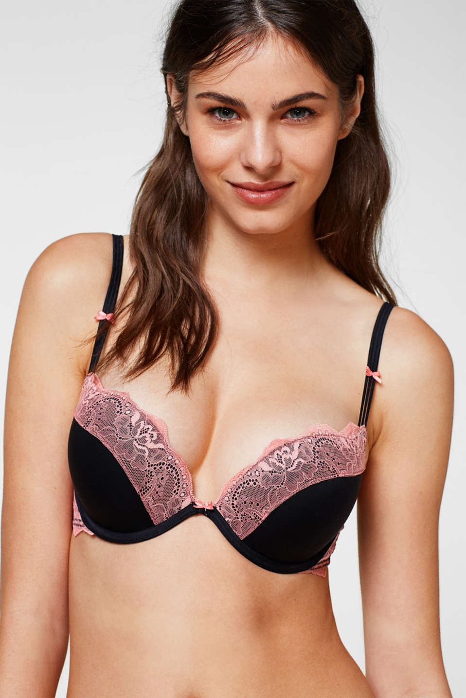 edc - Push-up bra with contrasting lace