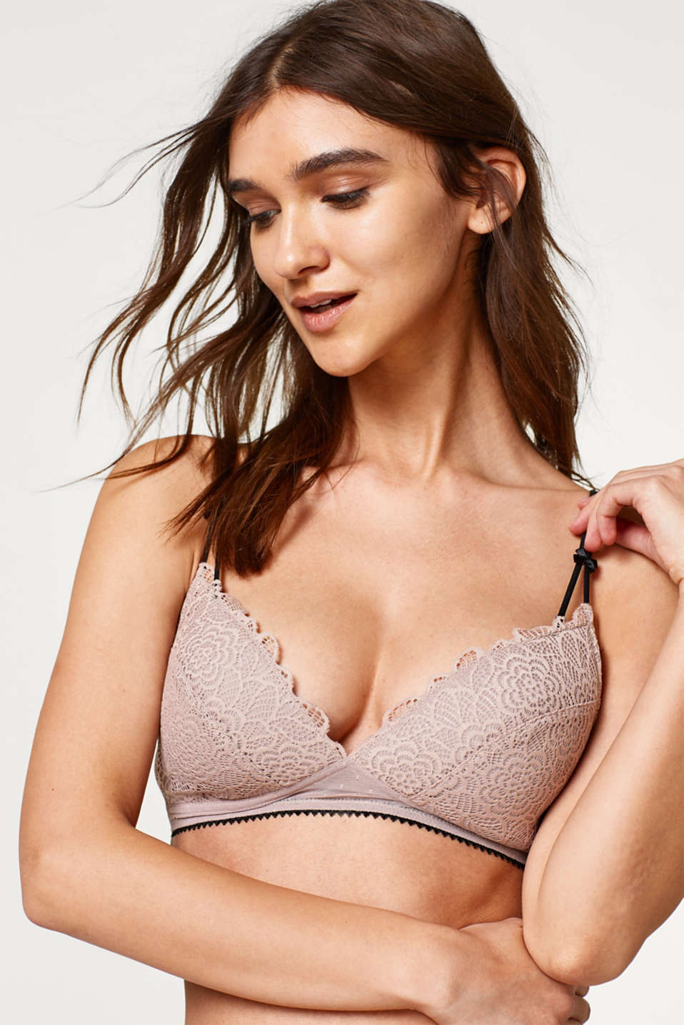edc - Wired multiway bra in lace and tulle