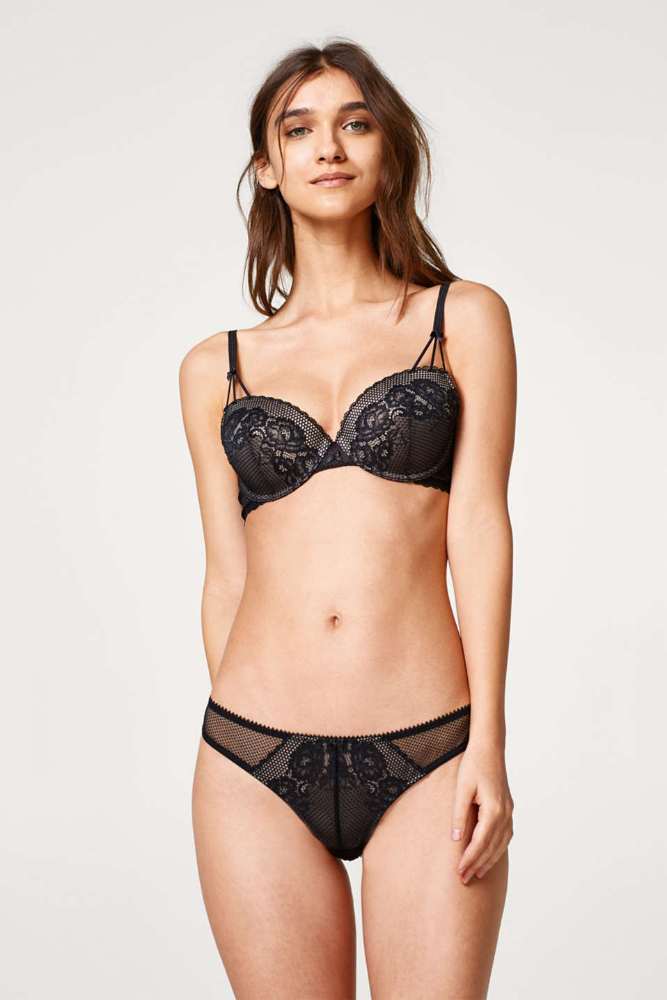 edc - Padded underwire bra in lace and mesh