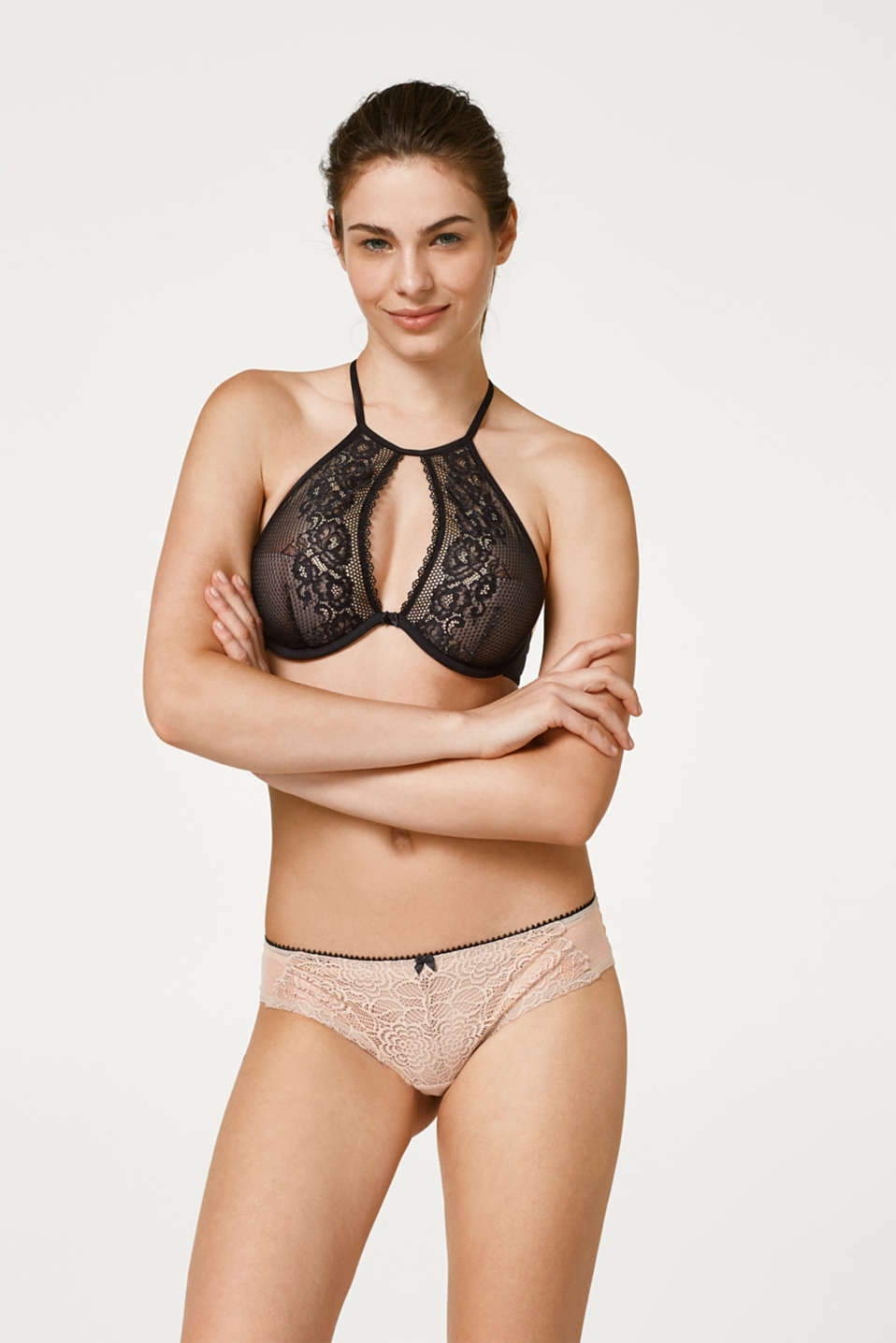 edc - Half padded underwire bra in lace and mesh