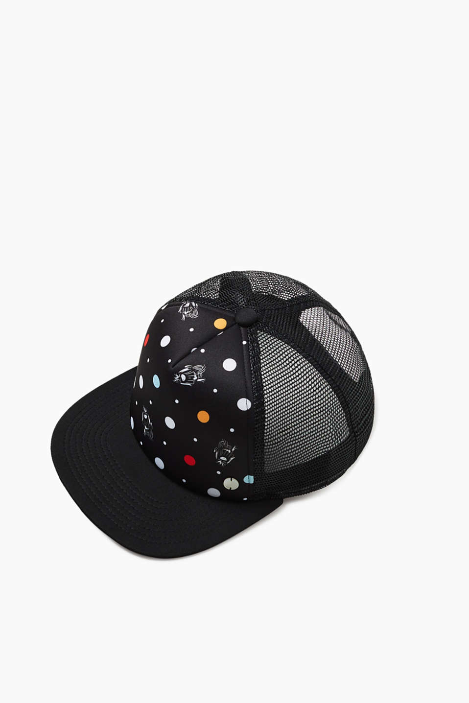 Esprit - Trucker cap with a polka dot pattern