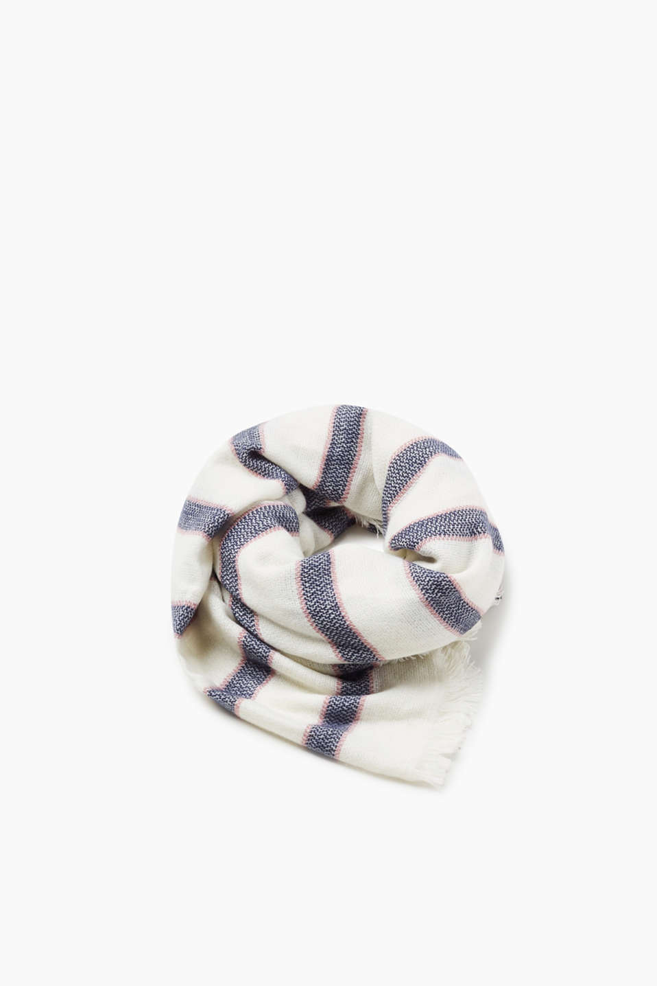 Esprit - Soft woven scarf with stripes
