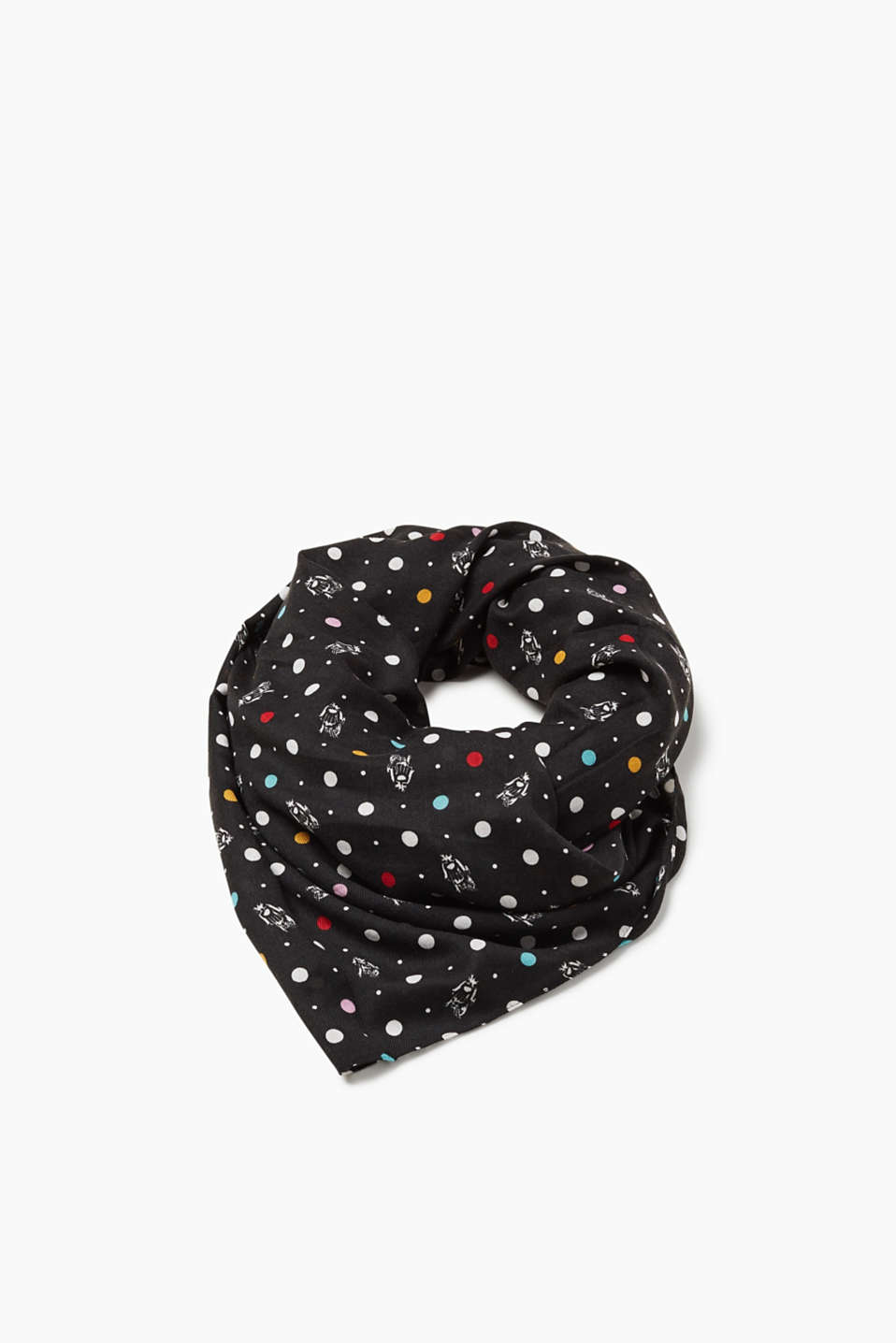 Indoors or outdoors - the colourful polka dot pattern makes this scarf an awesome accessory for highlighting your look.