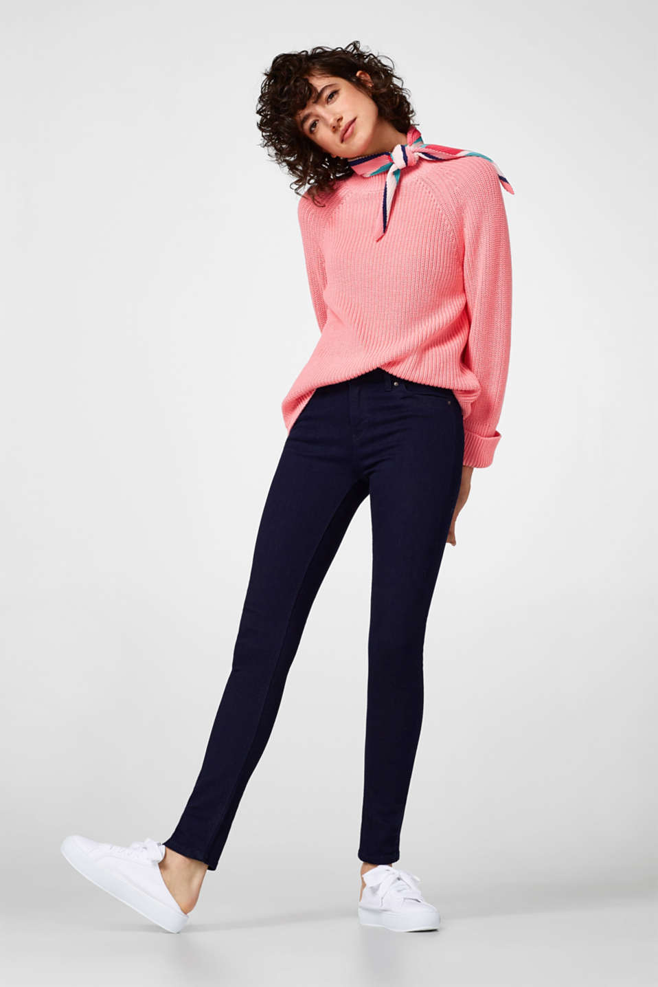 Esprit - Stretch jeans with hem zips