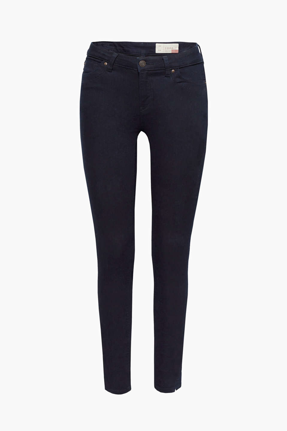 These jeans in strong stretch denim make the leg hems with side zips into cool head-turners!