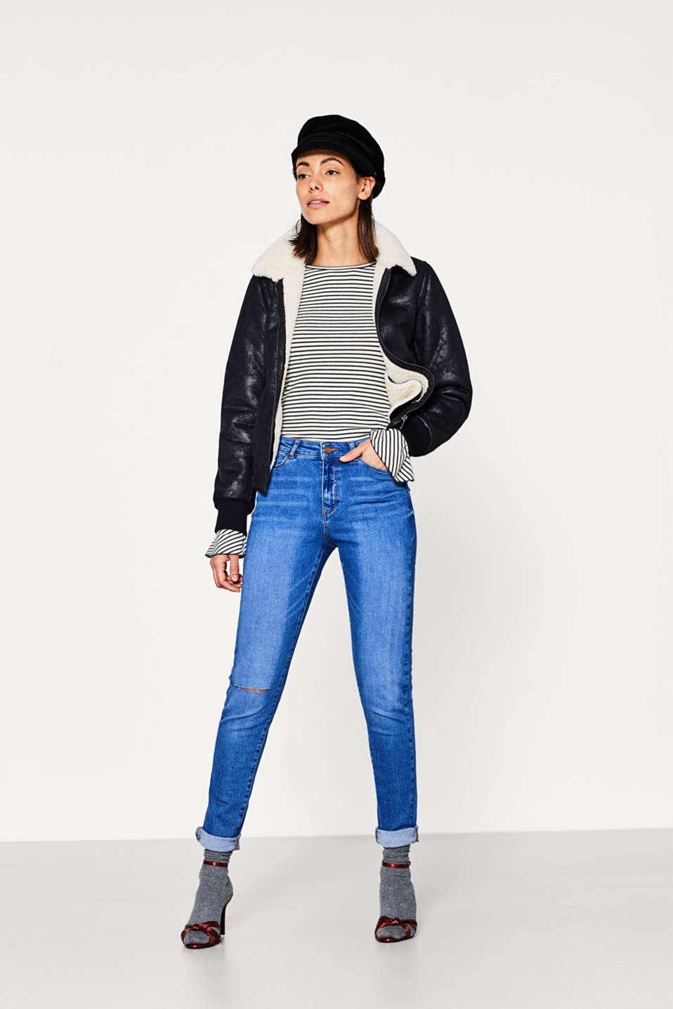 Used-Look-Jeans aus Super-Stretch