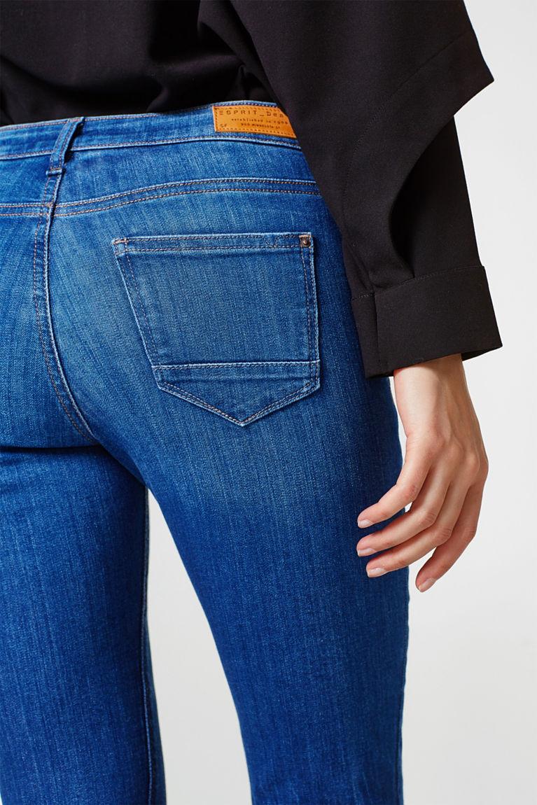 Stretch-Jeans mit Trompetensaum