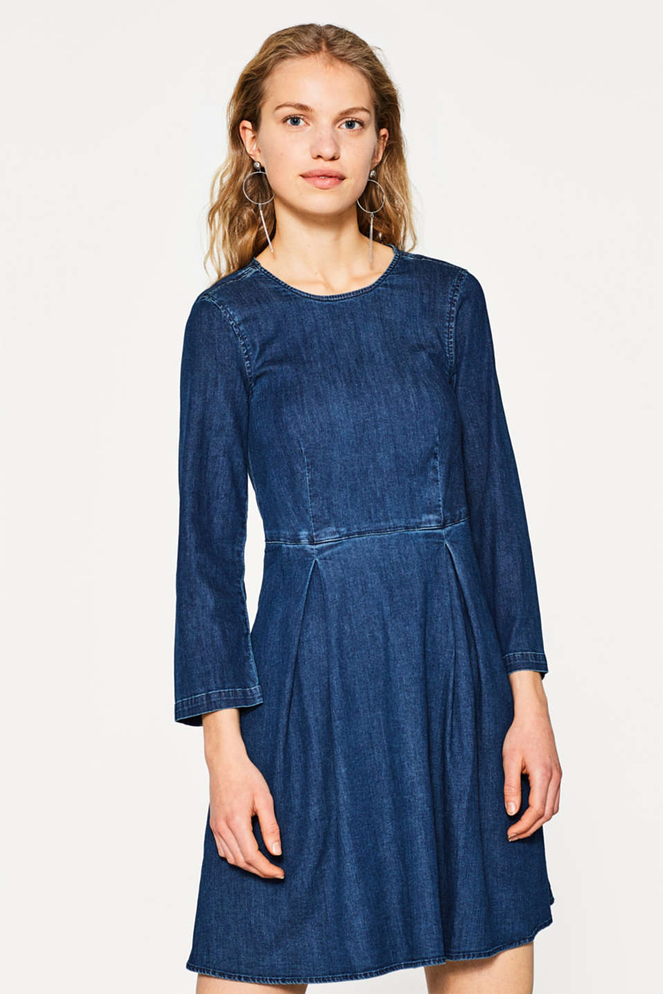 Esprit - Robe en jean cool en coton stretch