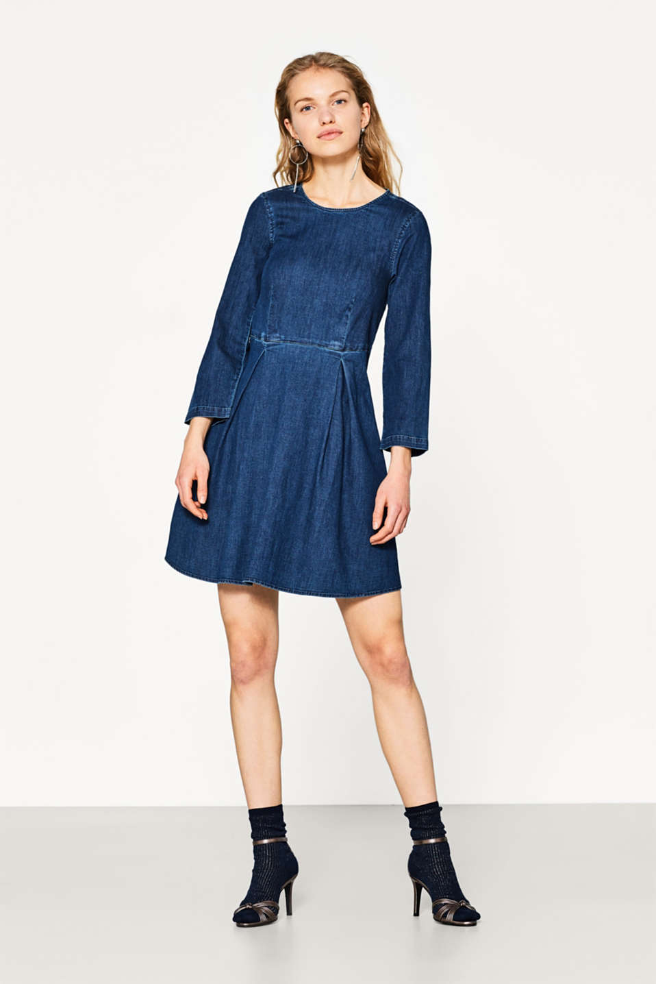Robe en jean cool en coton stretch