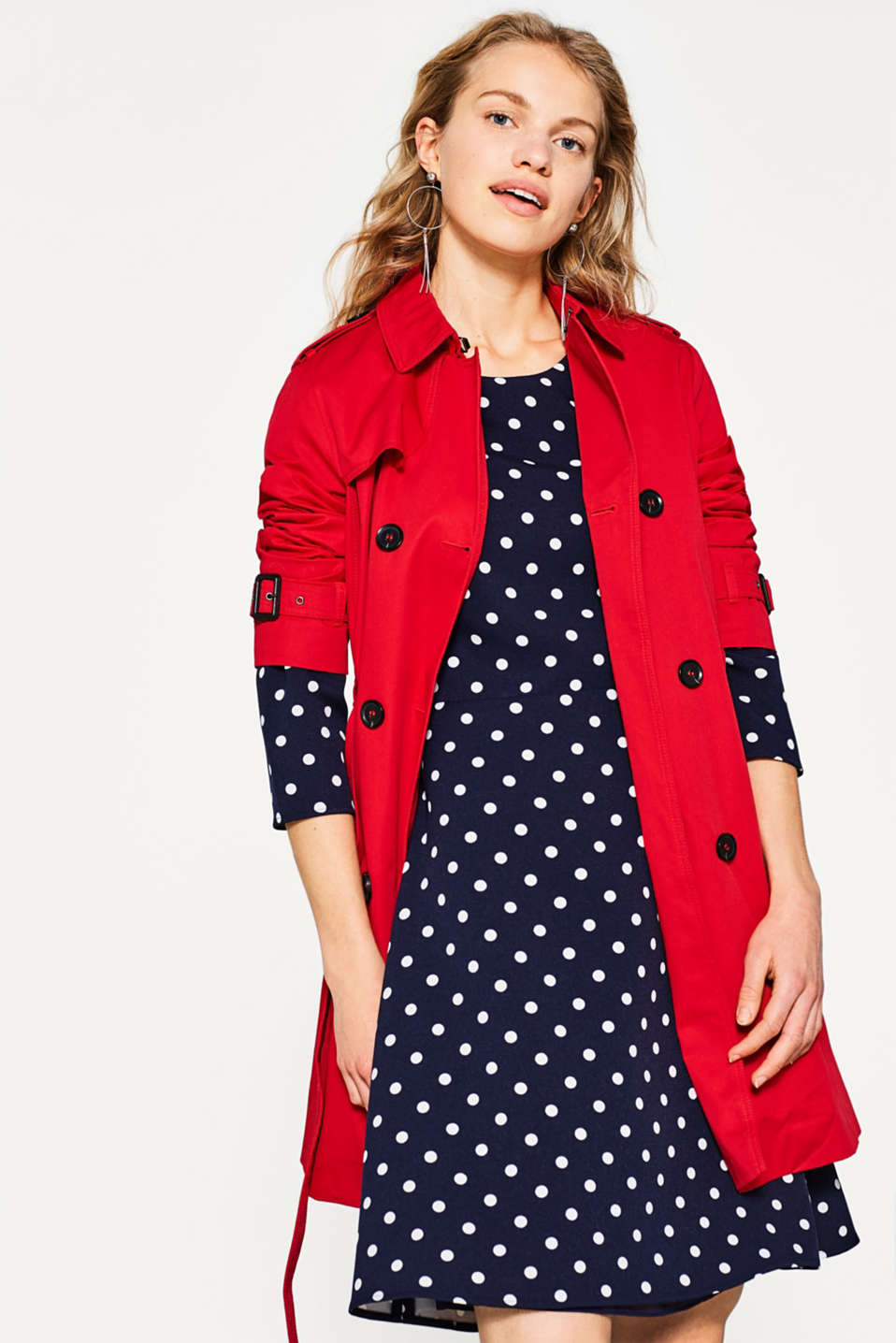 Robe en jersey stretch à pois