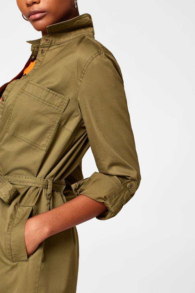 Hemdblusen-Kleid aus 100% Baumwolle