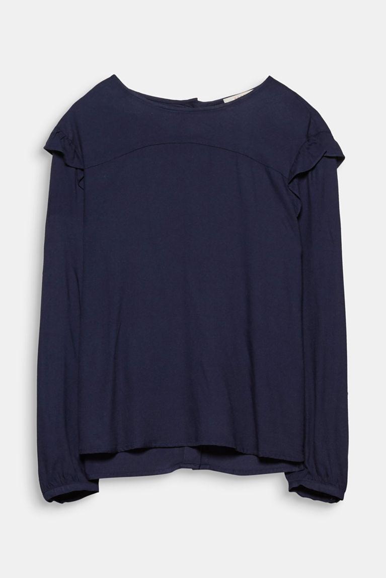 Fein strukturierte Rüschen-Bluse
