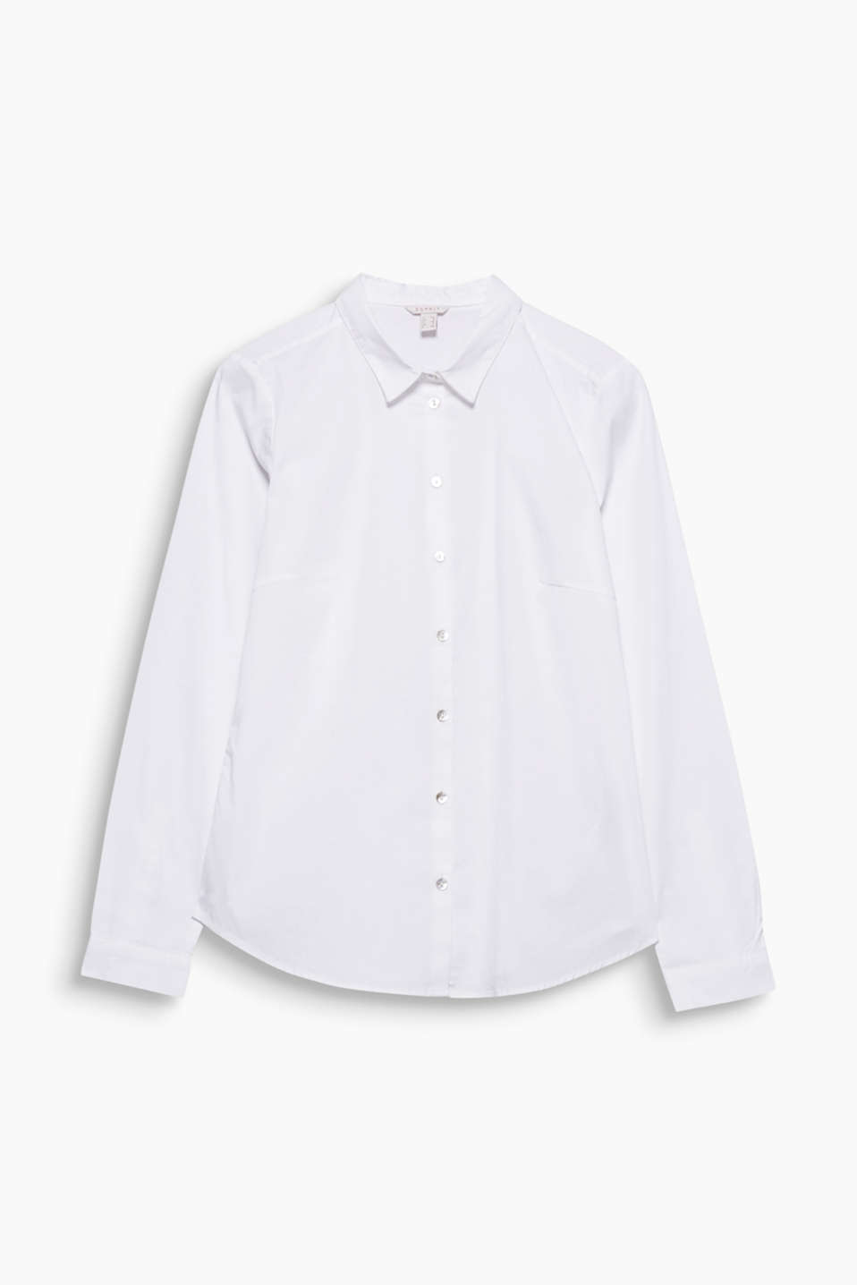 A fashion essential that no wardrobe should be without: this classic, fitted blouse.