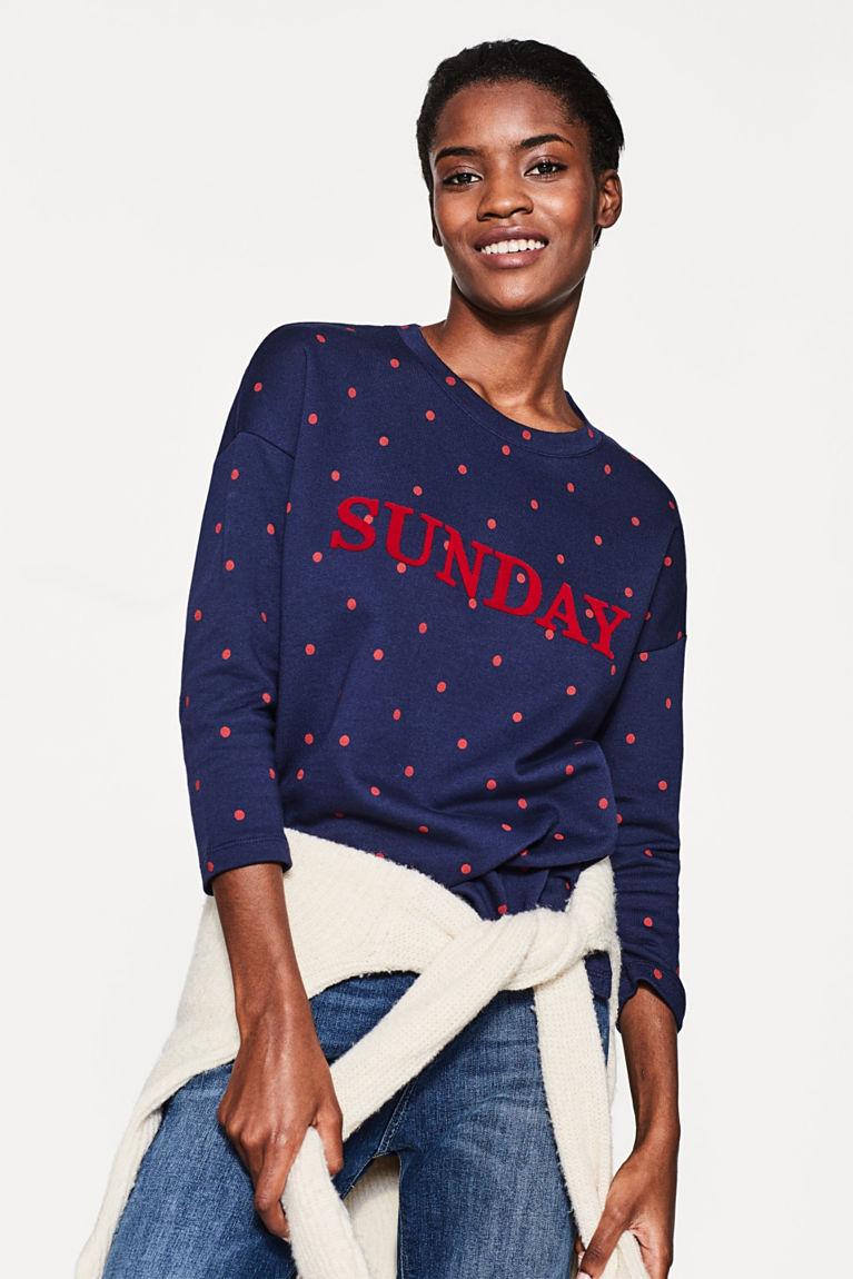 Lässiges Sweatshirt aus reiner Baumwolle