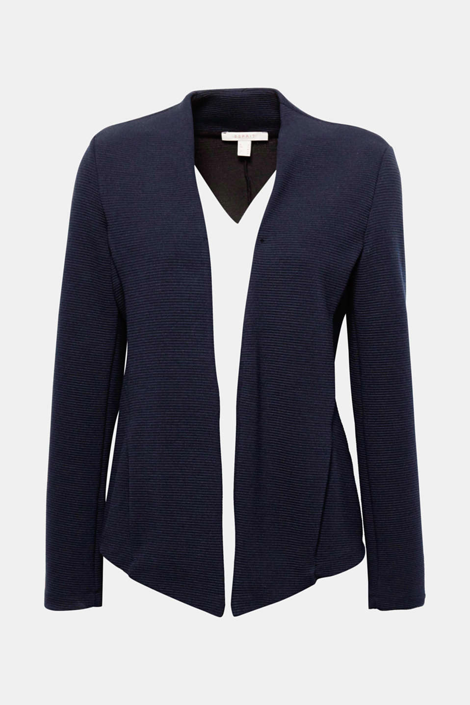 Whether sporty or casually elegant - this fitted jersey blazer wows with its sporty design.