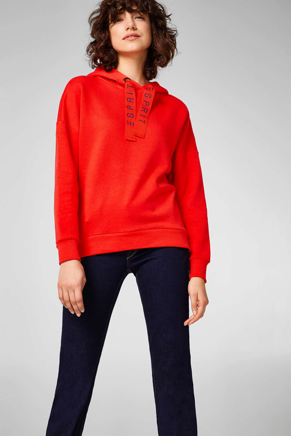 Esprit - Soft cotton hoodie with side zip