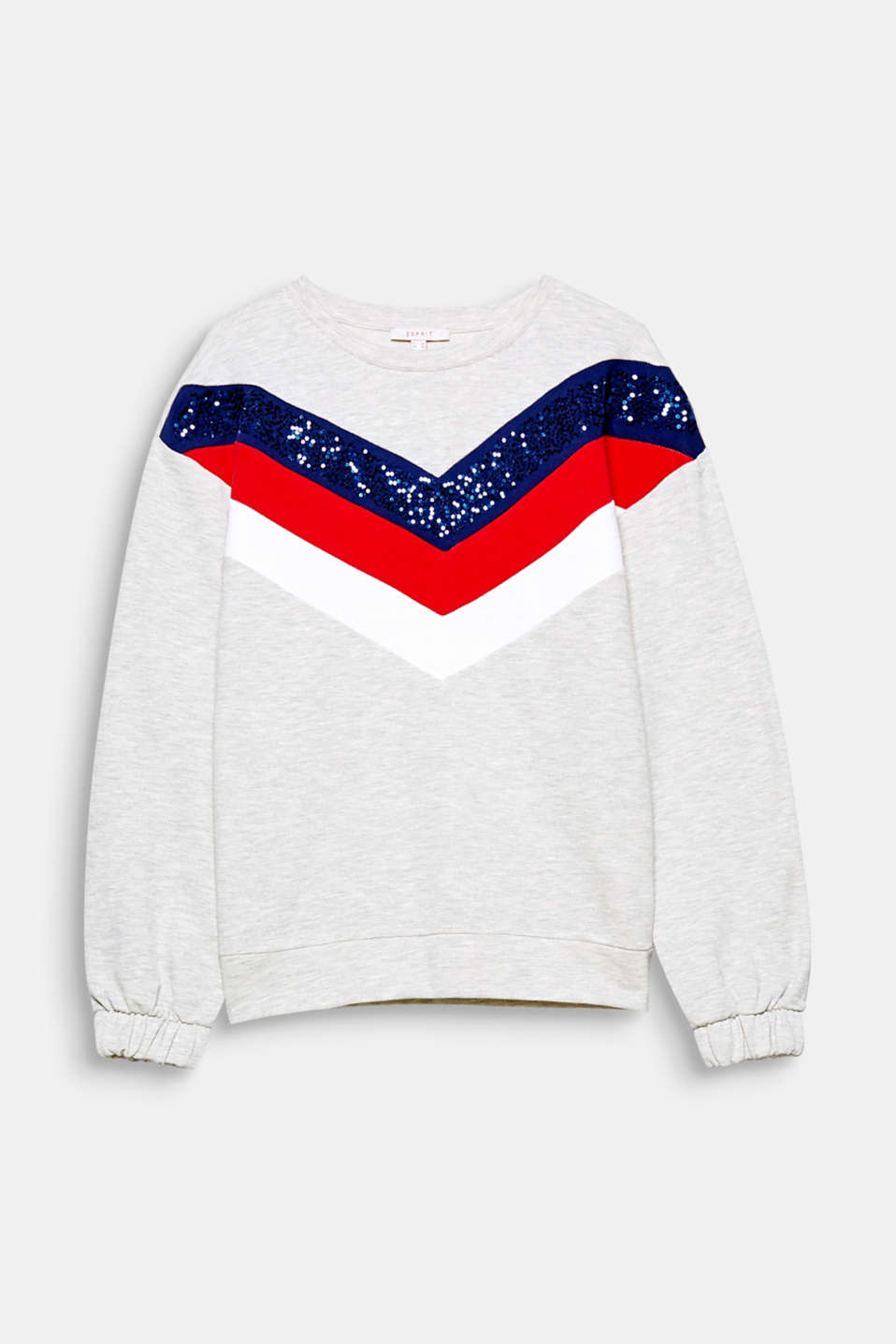 For your cool sportswear look! Colour blocking and sequins decorate this sporty sweatshirt.