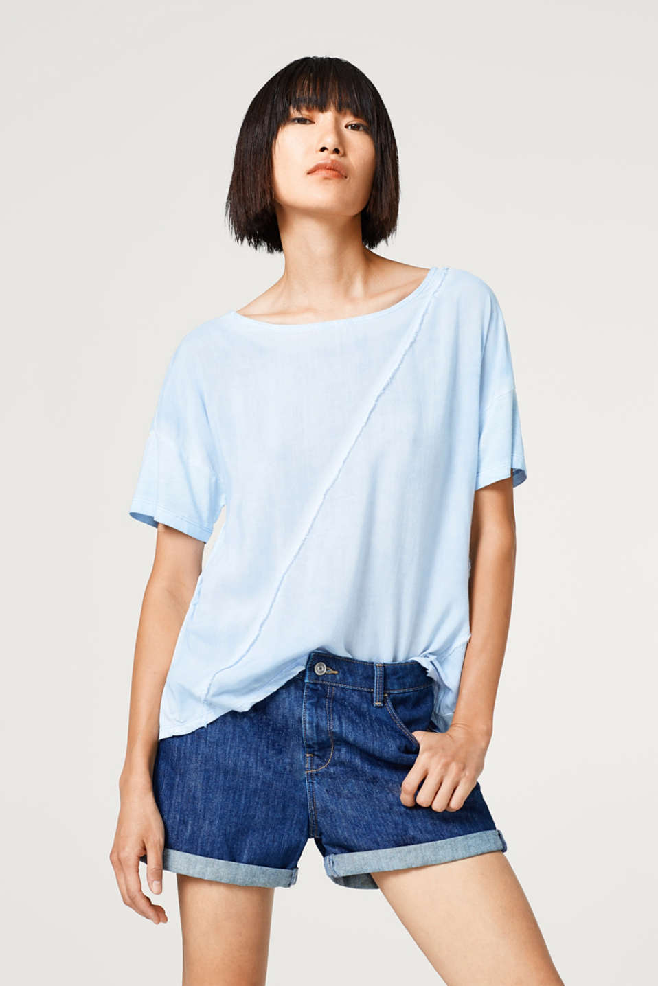 Esprit - Blouse top with a trendy dye
