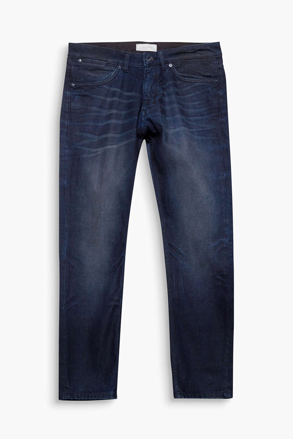 Used and Crinkled! Markante Effekte machen diese locker geschnitte Jeans zum Denim-Favoriten.
