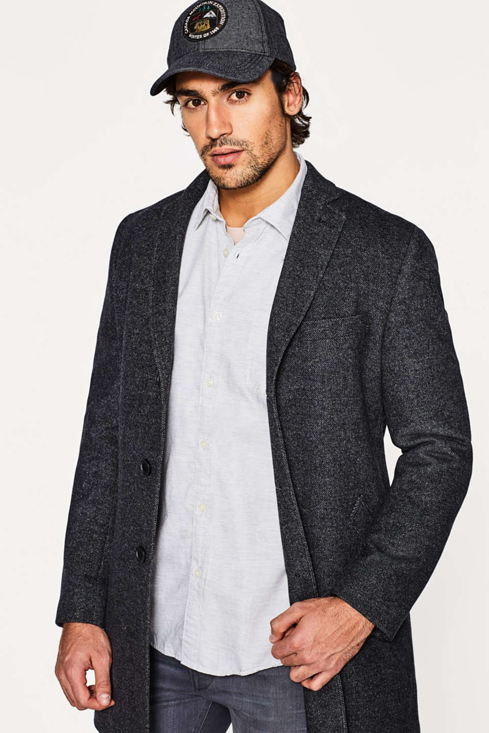 Shirt with a slub texture, in cotton