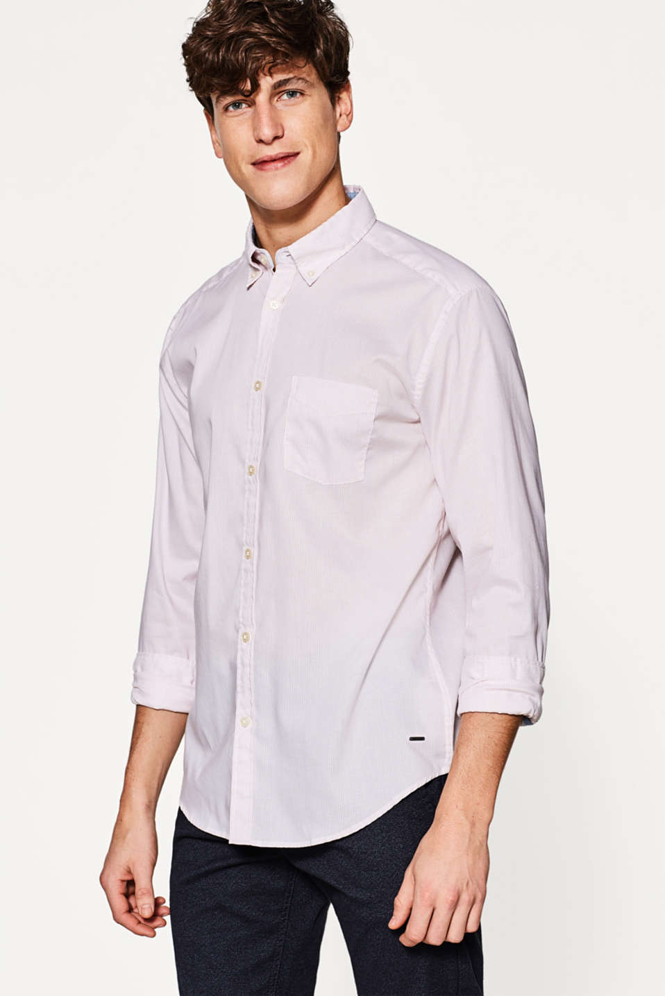 Esprit - Shirt with vertical stripes, in cotton