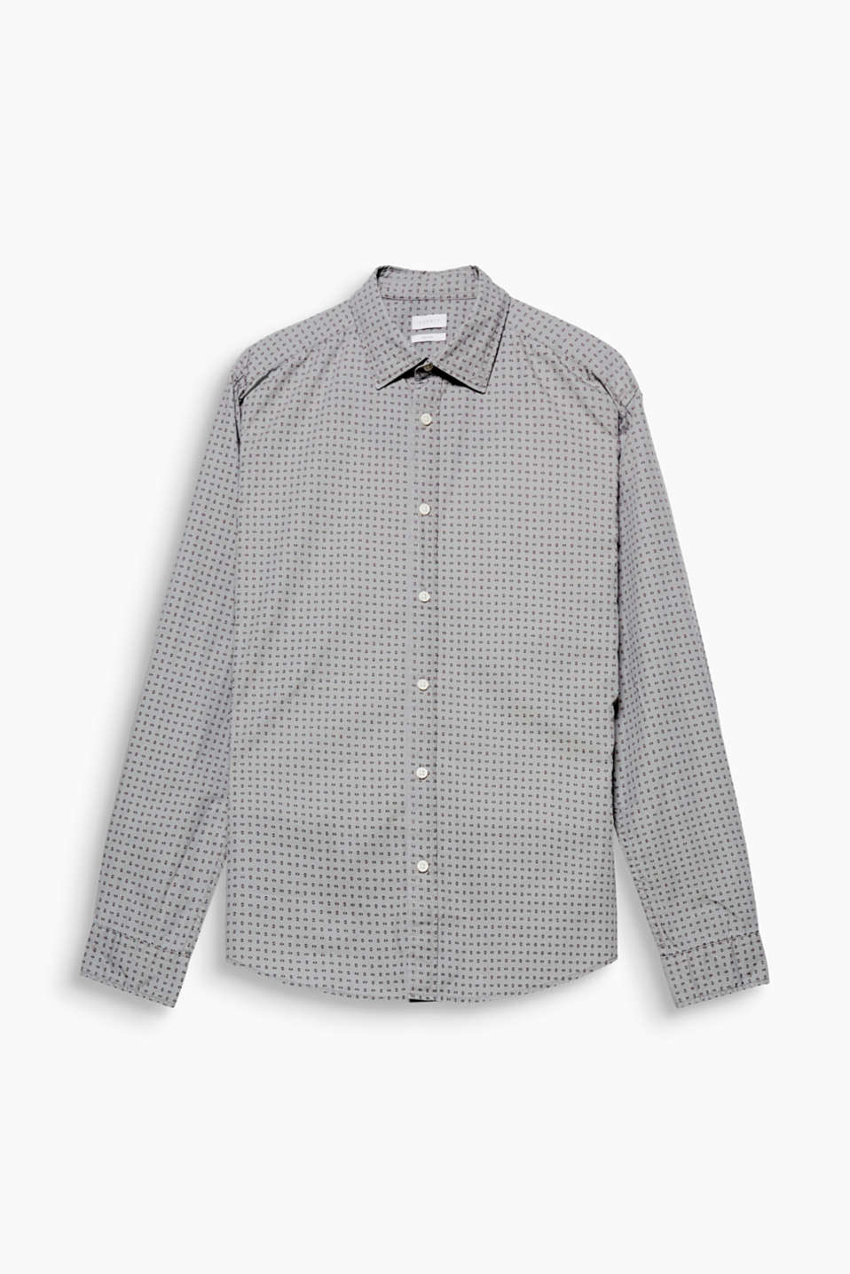 This shirt in smooth cotton fabric boasts an exciting look thanks to the geometric minimalist print.