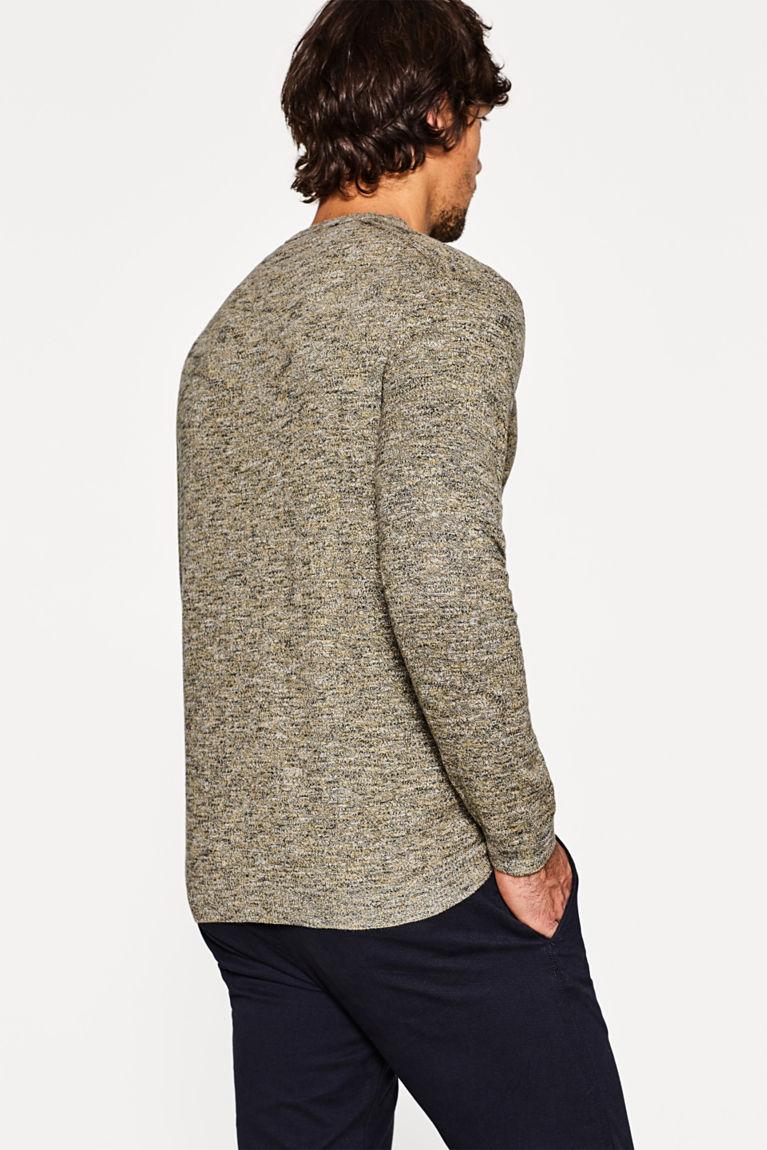 Melierter Sweater aus reiner Baumwolle