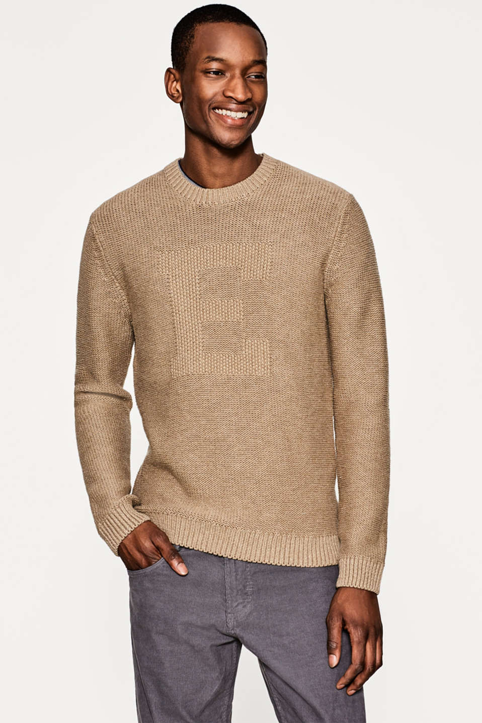 Esprit - Pure cotton chunky knit jumper