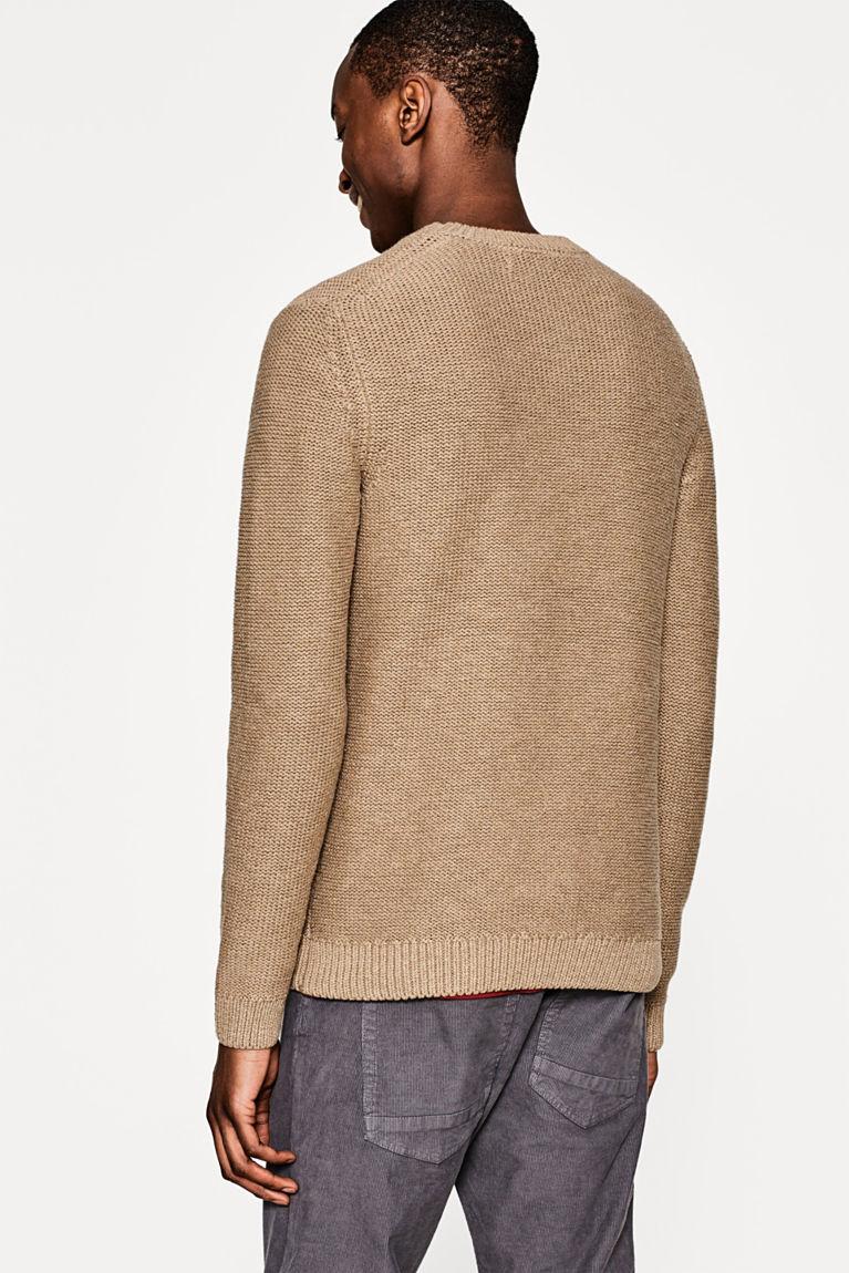 Grobstrick-Pullover aus reiner Baumwolle