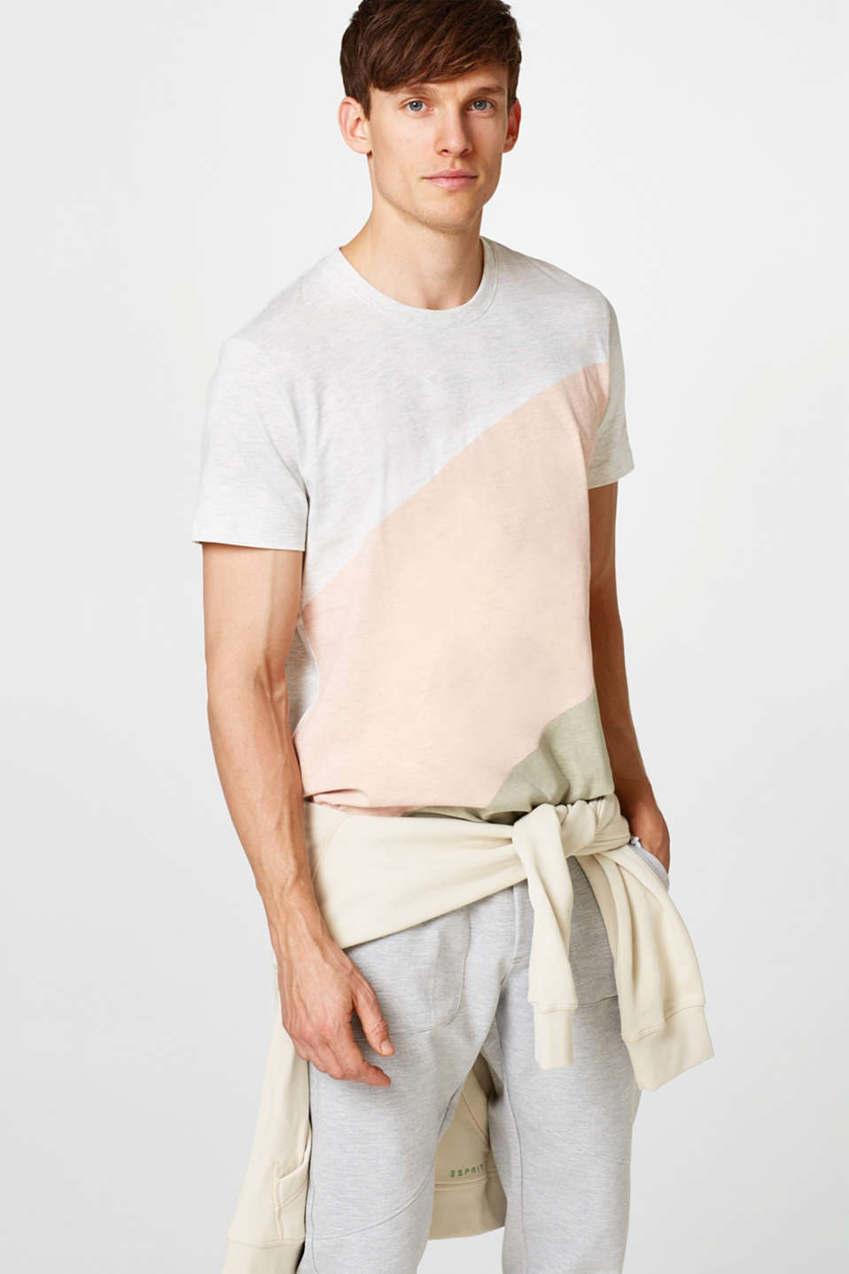Esprit - Colour block jersey T-shirt