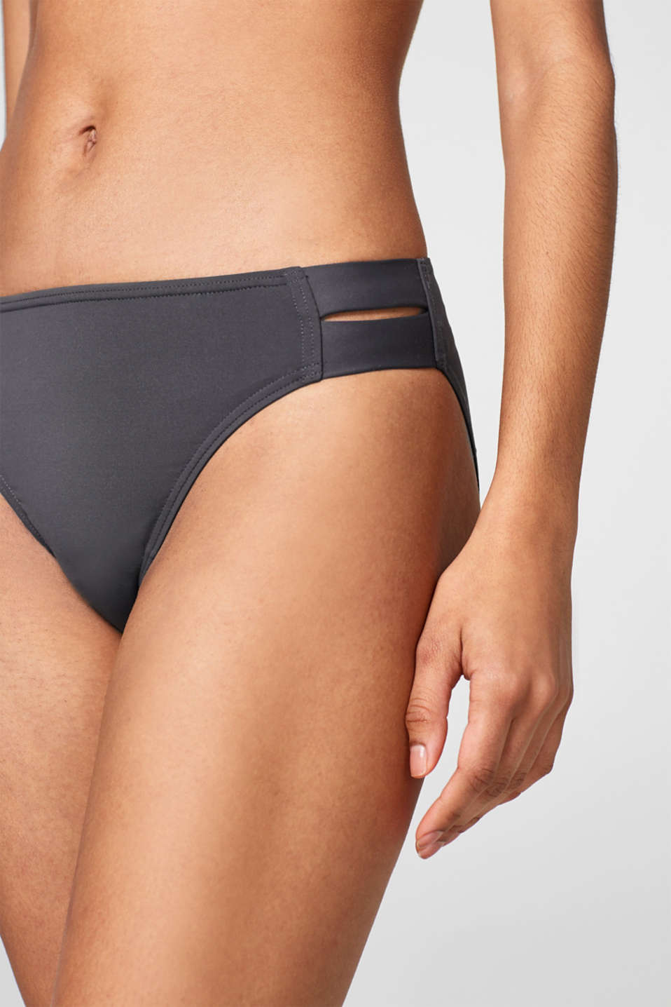 Briefs with elasticated side sections