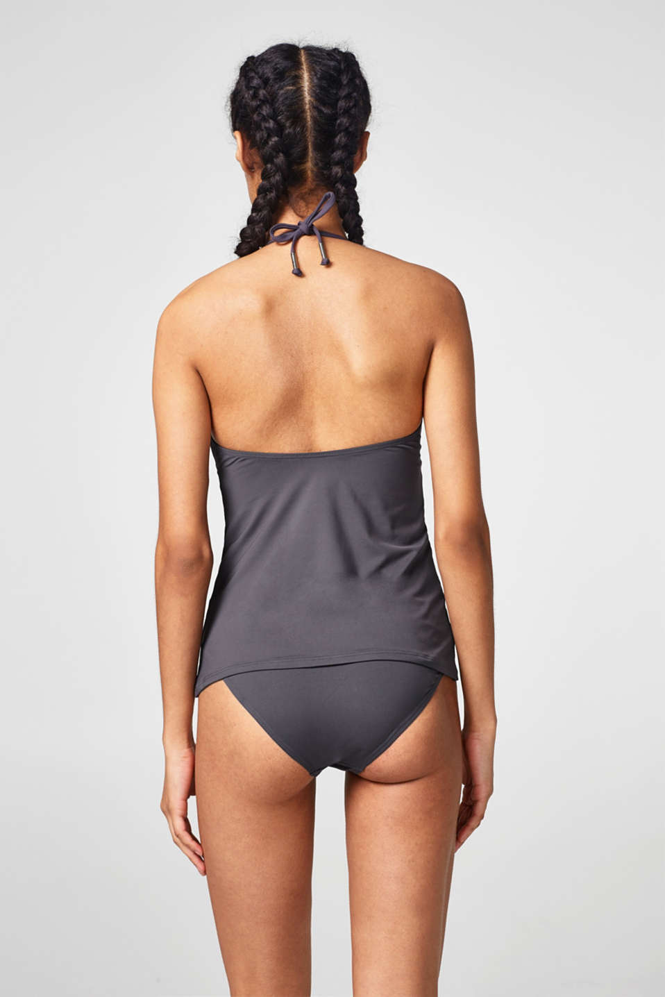 Padded tankini top in a halterneck style