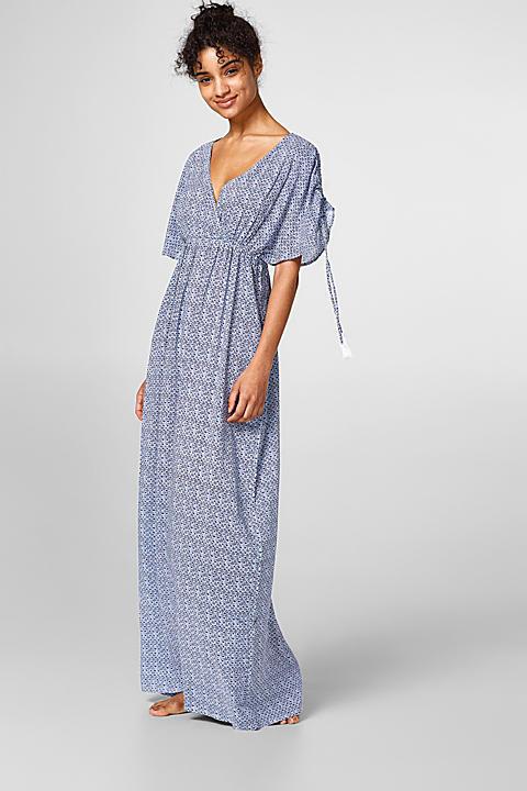 Fließendes Maxi-Kleid mit Mini-Print