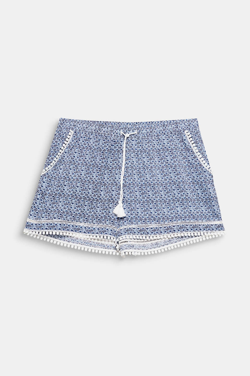 SAPPHIRE collection – these fabric shorts with a mini print complete matching swimwear or a simple basic top!
