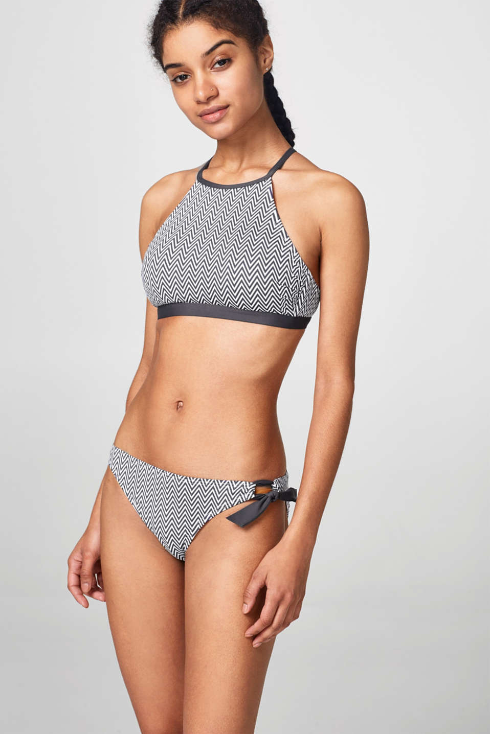 Esprit - Padded bikini top with a zigzag design