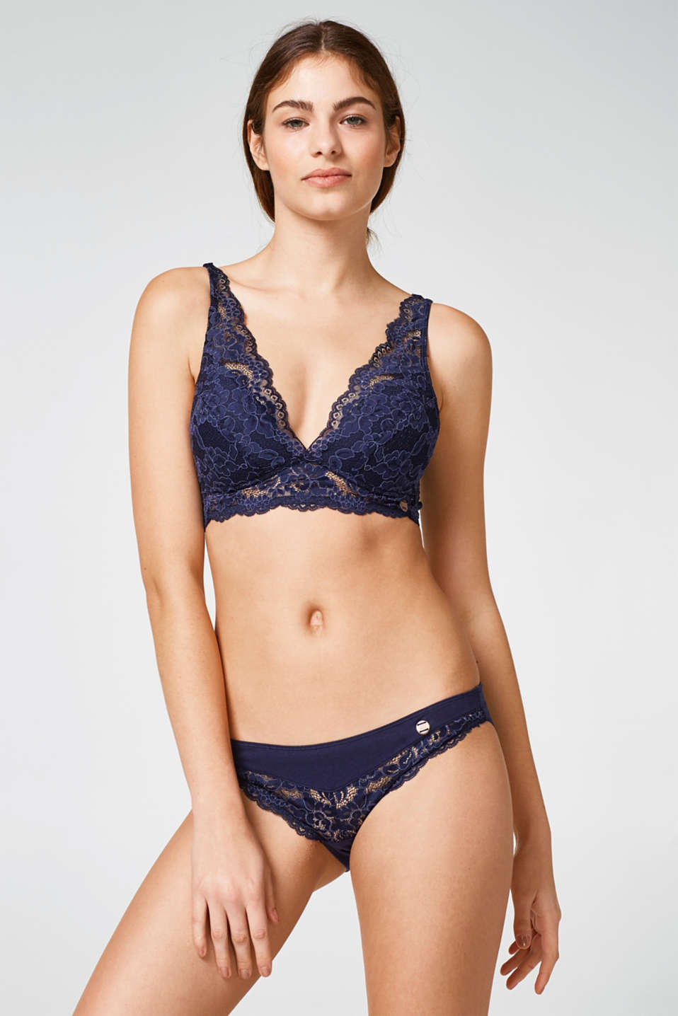 Esprit - Hipster briefs with elegant crocheted lace