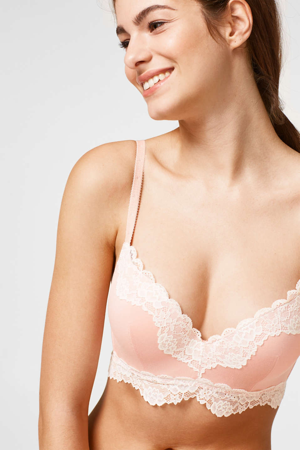 Esprit - Padded non-wired bra with lace details