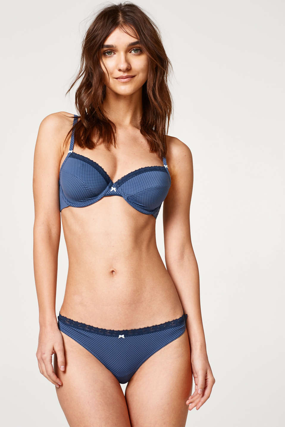 Esprit - Unpadded bra with multi-way straps