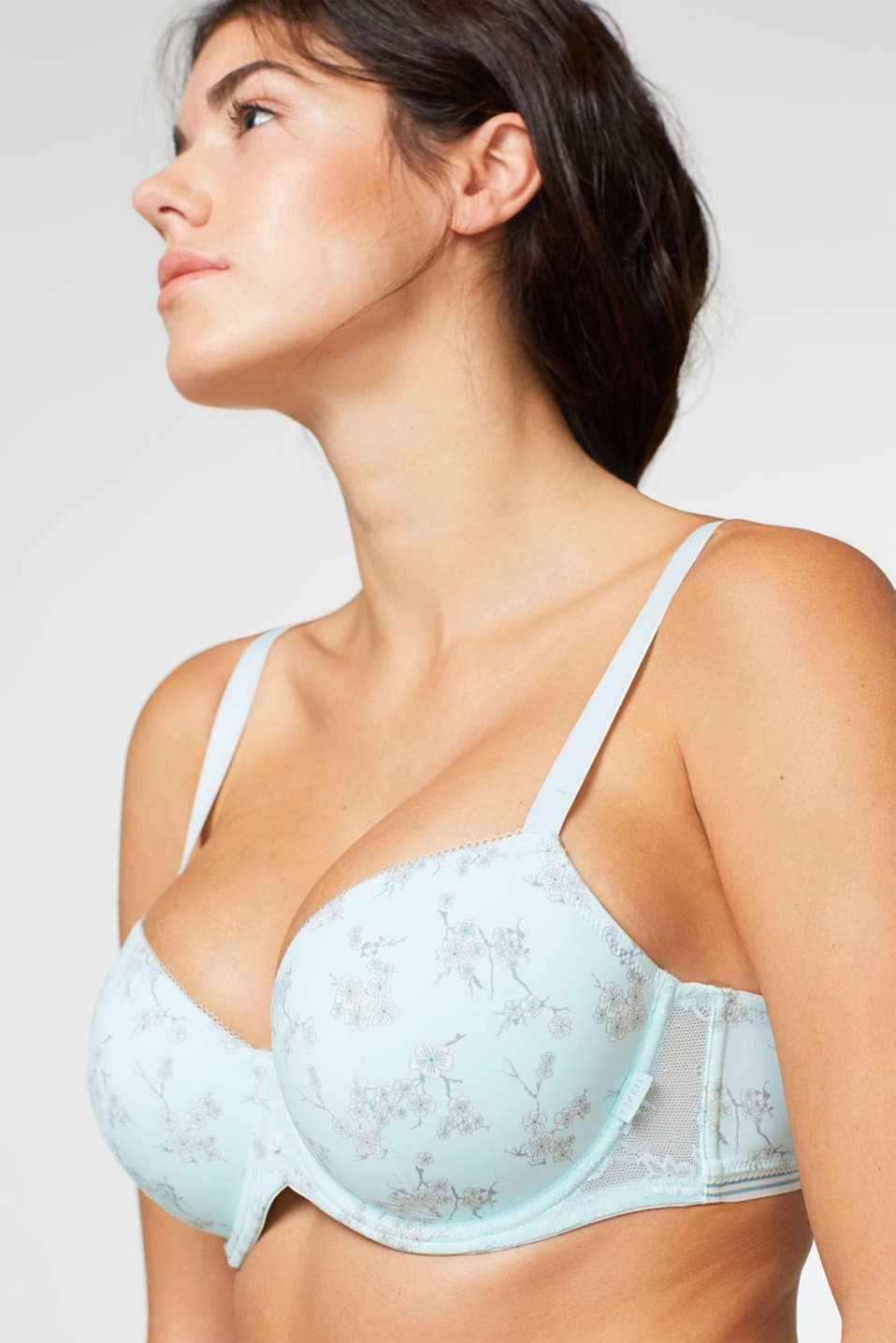 Esprit - Padded underwire bra, larger cups + print