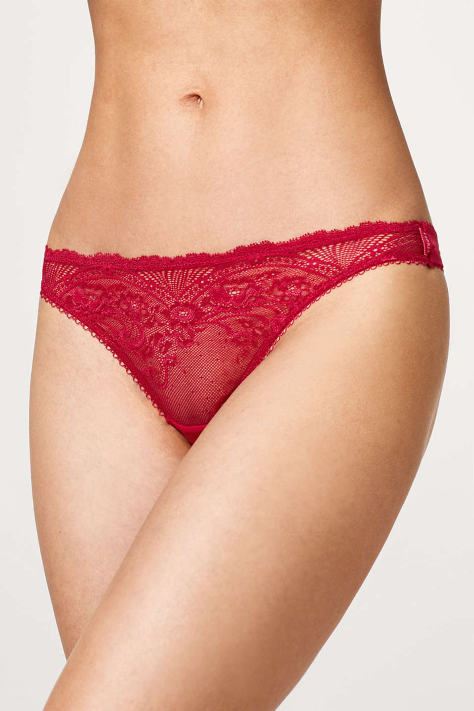 Hipster thong in ornamental lace