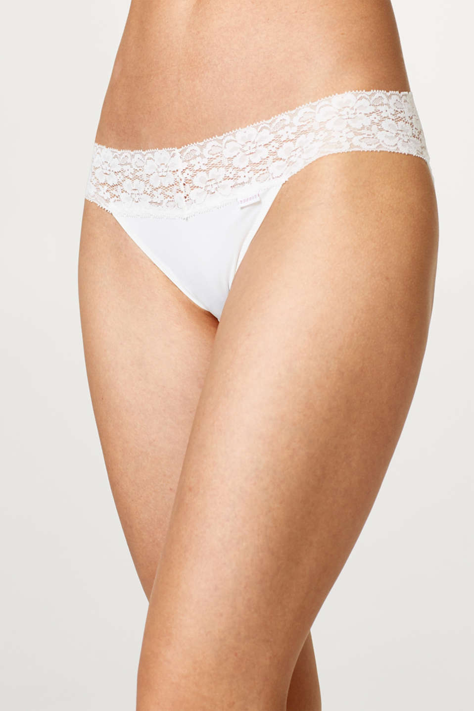 Hipster briefs with a lace waistband