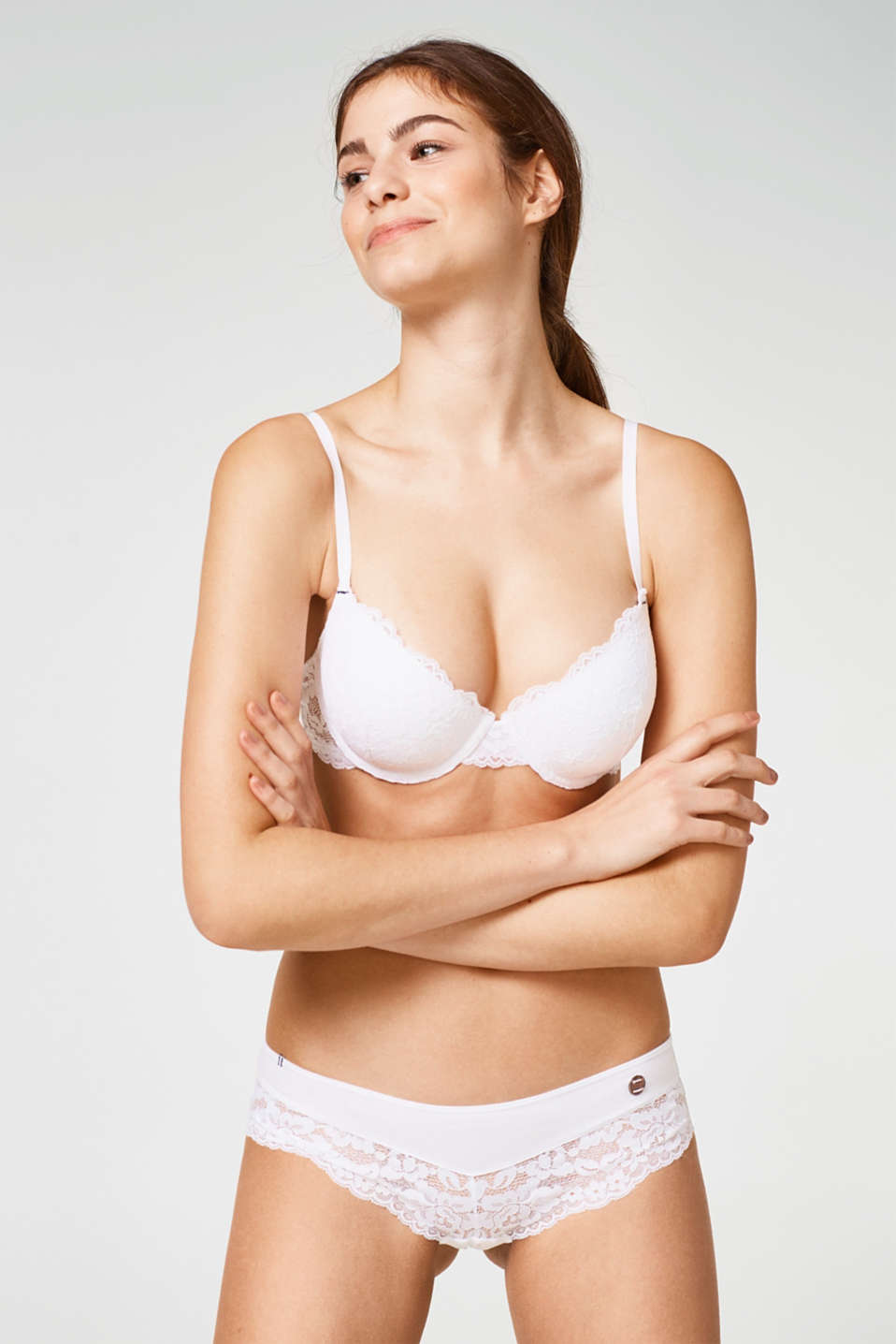 Esprit - Padded underwire bra with lace