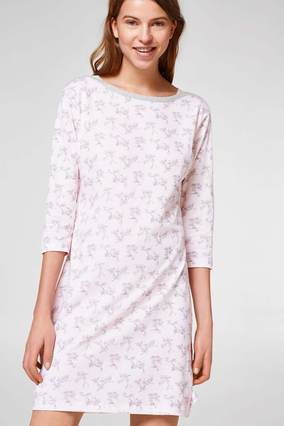 Esprit - Jersey nightshirt in 100% cotton