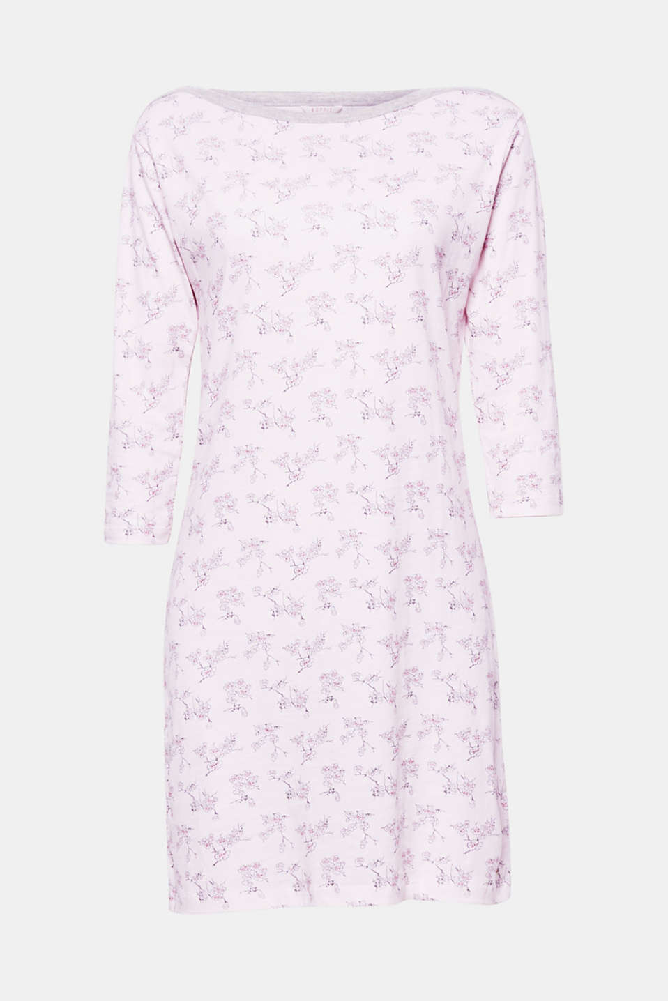This feminine jersey nightshirt with a cherry blossom print inspired by Japan guarantees sweet dreams!