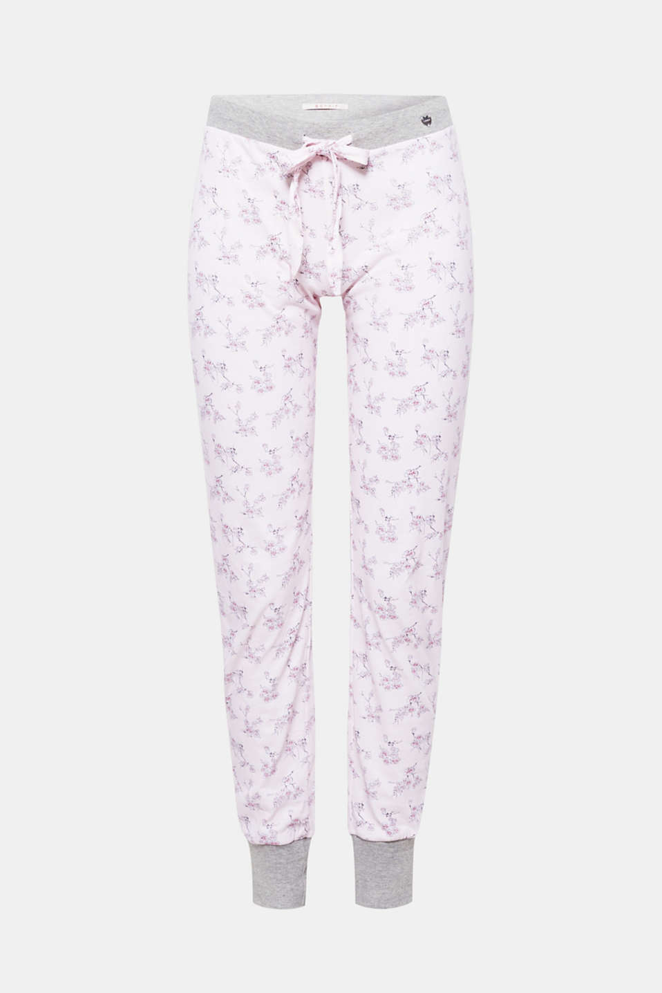 These jersey PJ bottoms with a Japanese cherry blossom print + elasticated waistband promise sweet dreams!