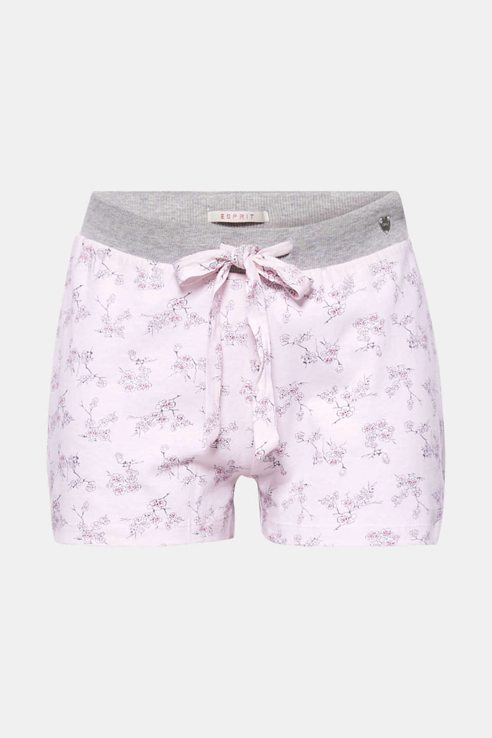 These lightweight, cotton-jersey shorts with a cherry blossom print inspired by Japan guarantee sweet dreams!