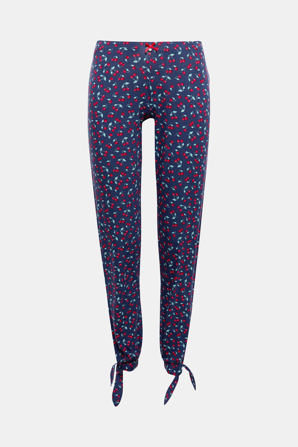 So cute: these jersey pyjama bottoms get their enchanting look from the cheerful cherry print!