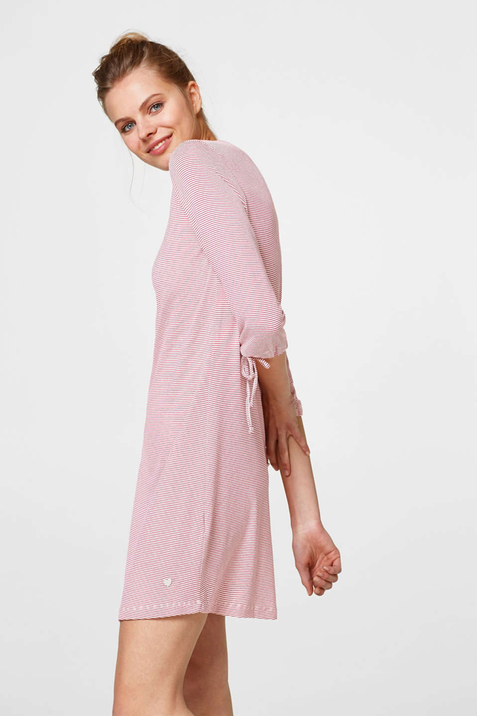 Esprit - Jersey nightshirt with all-over stripes