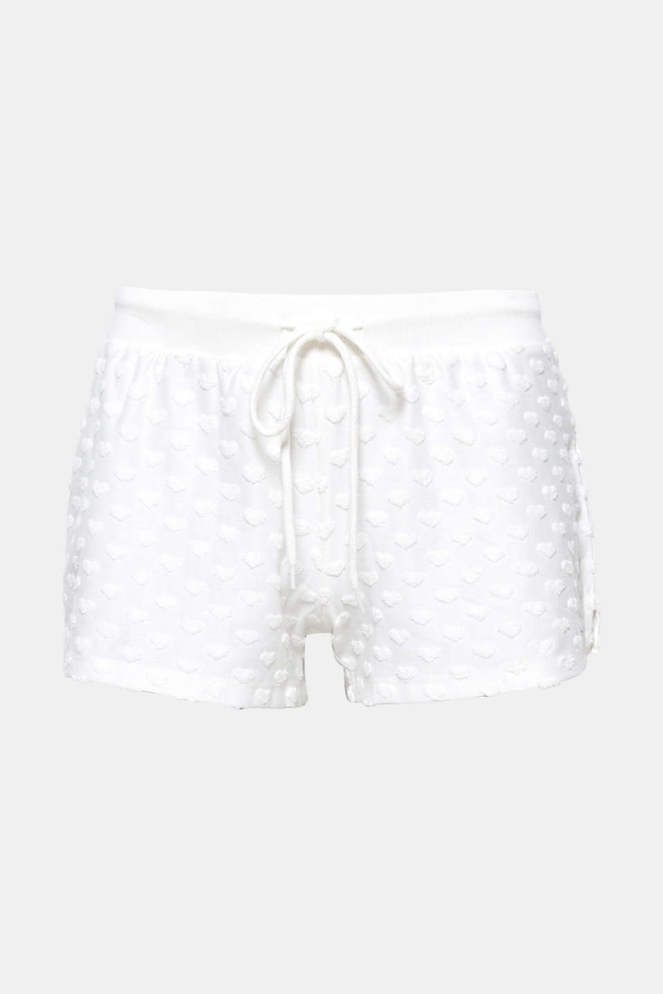 So sweet - and not just for Valentines Day: pretty jersey shorts with trimmed towelling hearts!