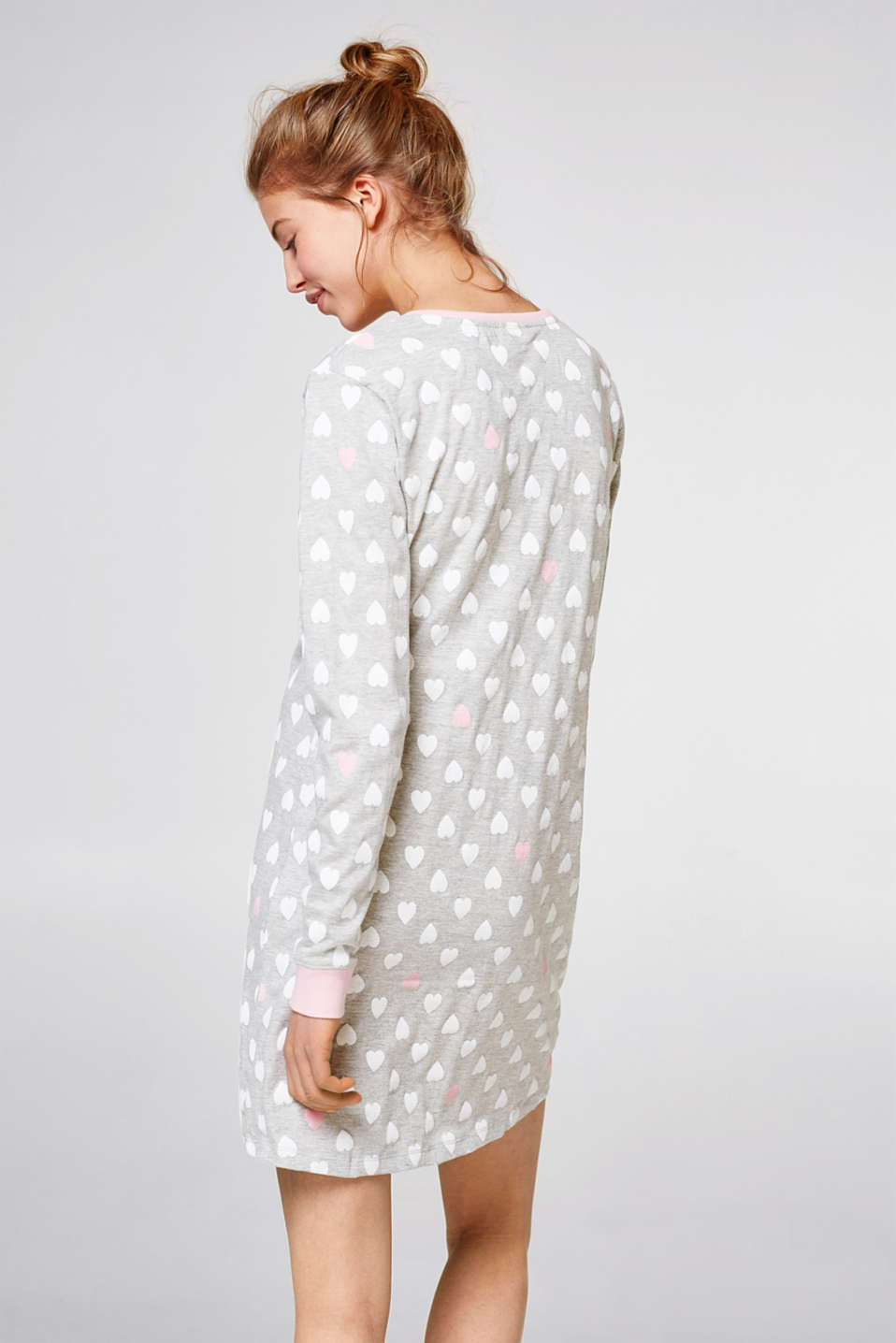Nightshirt with all-over heart print